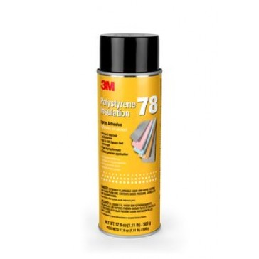 3M Polystyrene Insulation 78 Spray Adhesive Clear