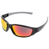 ERB Ammo Sport Black Gloss Red Mirror Safety Glasses