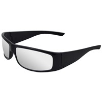 ERB Boas-Xtreme Sfty Glasses; Black, Clear lens; #17920