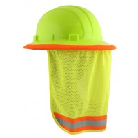 ERB Hard Hat Hi-Vis Lime Mesh Neck Sun Shield 19281