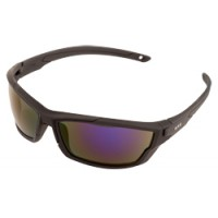 ERB Outride Black Rubber Blue Mirror Safety Glasses Model 18032