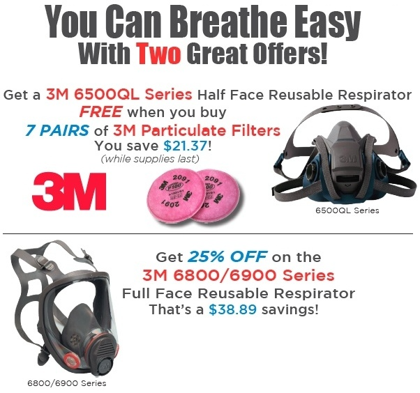 3M Respirators on Sales - January 2018 Monthly Special