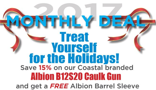 Albion Caulk Gun and Spatula - December Special -Coastal Construction Products