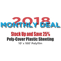 POLY-COVER PLASTIC SHEETING   APRIL 2018 MONTHLY SPECIAL
