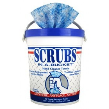 Associated Paper Scrubs in a Bucket