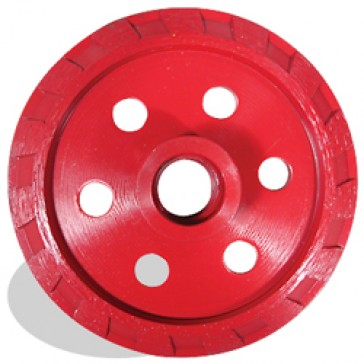 """Pearl Abrasive Crack Chaser 4"""" Economy Threaded PVV904M (Red)"""