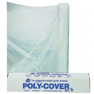 Poly-Cover Plastic Sheeting 6 mil Clear 10' x 100'