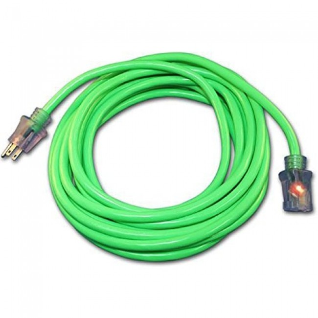 Century Wire ProStar Extension Cord Dual Lighted 12/3 50\' Green ...