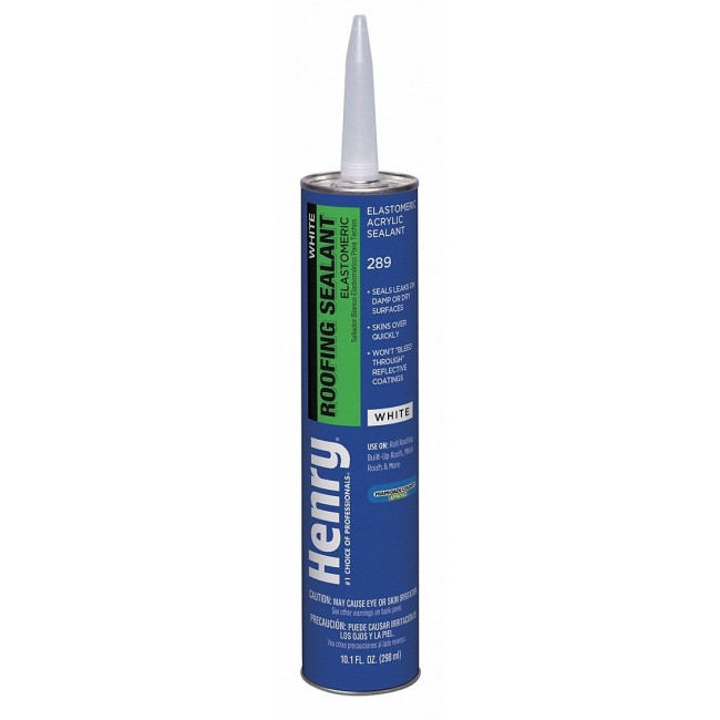 Henry 289 White Roofing Sealant 10oz Coastal