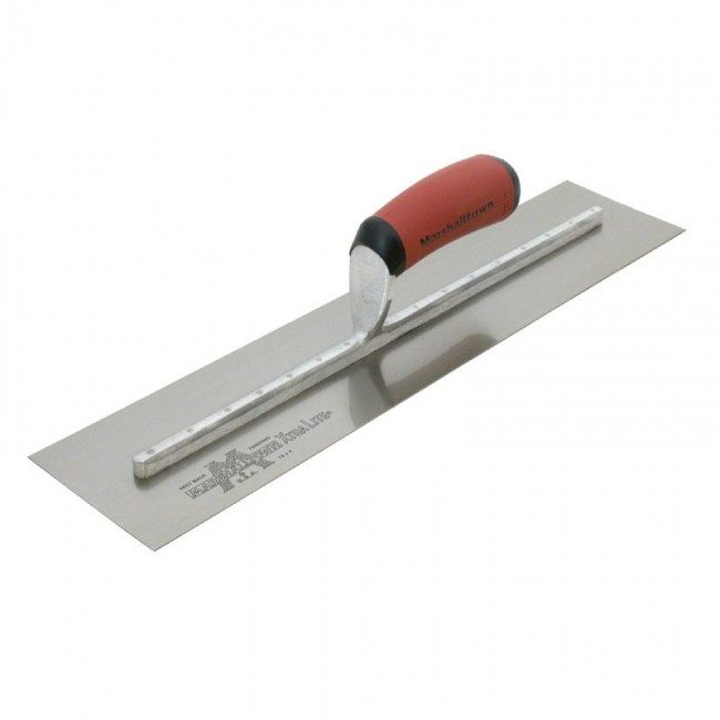 """Marshalltown 6/"""" x 2 1//2/"""" Solid Corner Trowel with Stainless Steel Blade and Dura"""
