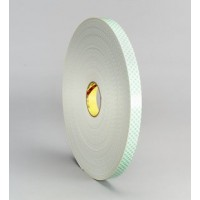 "3M Urethane Foam Tape 4008 Off-White 1/8"" x 1"" x 108' Roll"