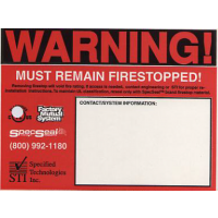 STI Warning Label Sticker Black & Red Z1003-892-CG